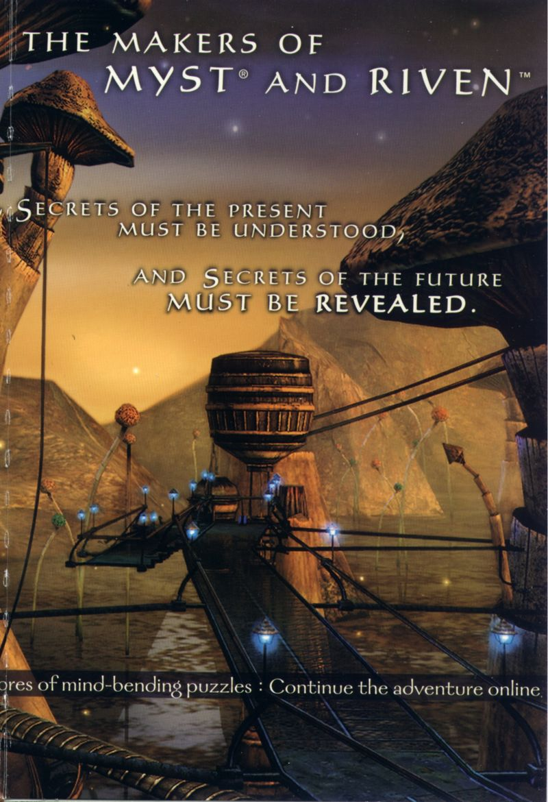 Uru: Ages Beyond Myst Windows Inside Cover Right