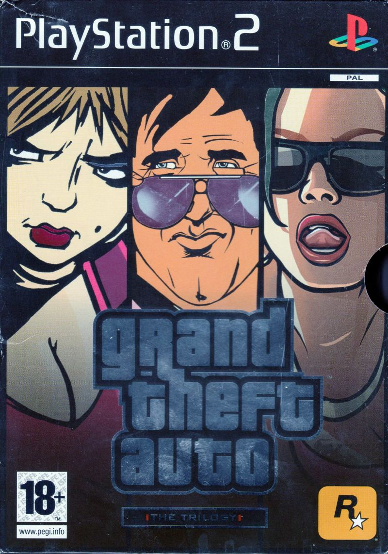 Grand Theft Auto: The Trilogy PlayStation 2 Front Cover