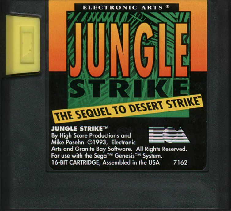 Jungle Strike Genesis Media