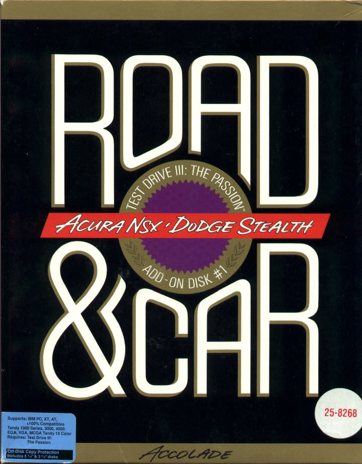 Road & Car DOS Front Cover