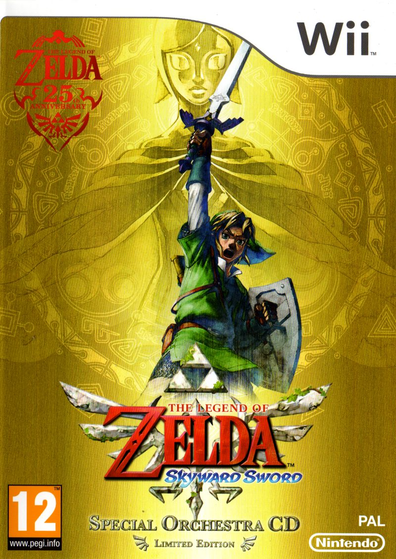 The Legend Of Zelda Skyward Sword 2011 Wii Box Cover