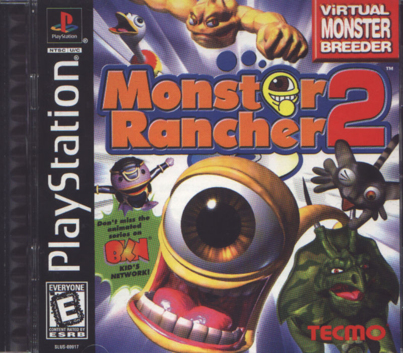 Monster Rancher 2 PlayStation Front Cover