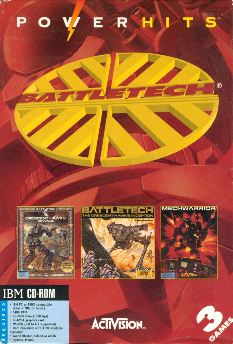 PowerHits: BattleTech DOS Front Cover