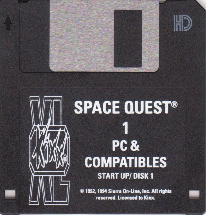 Space Quest I: Roger Wilco in the Sarien Encounter DOS Media Start Up Disk