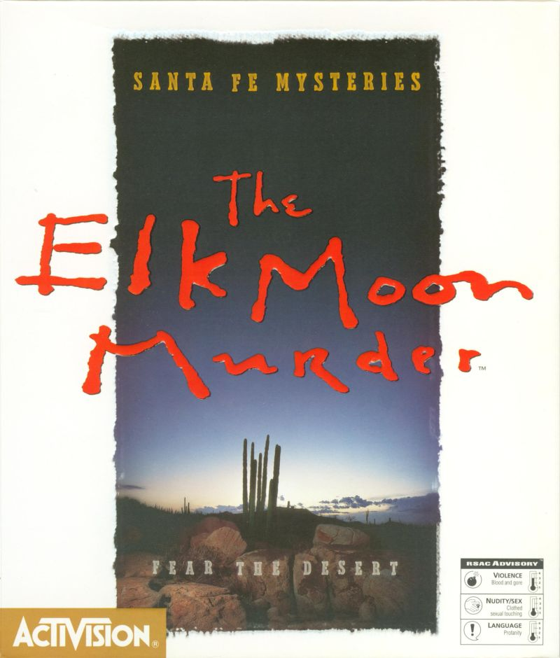 Santa Fe Mysteries: The Elk Moon Murder DOS Front Cover