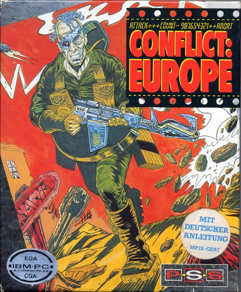 Conflict: Europe DOS Front Cover