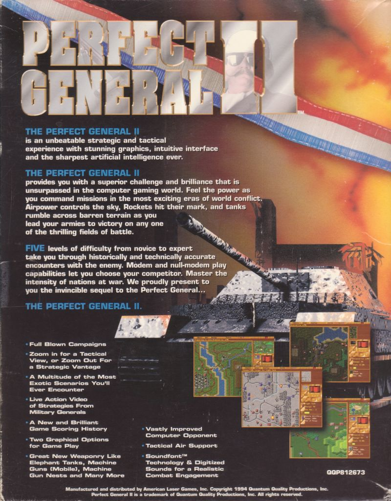 Perfect General II (1994) DOS box cover art - MobyGames