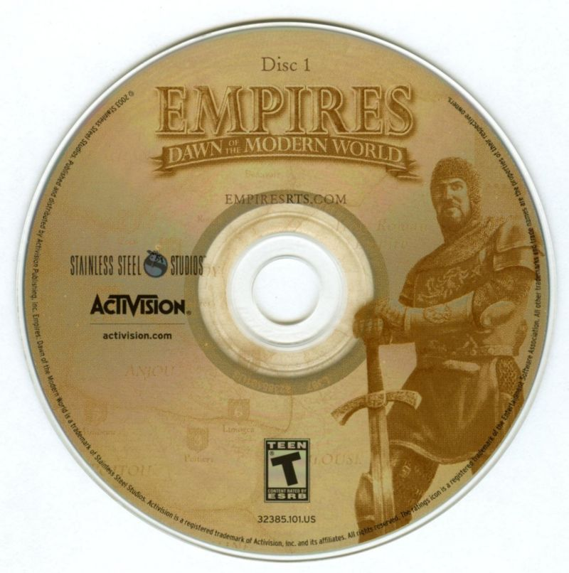 Empires: Dawn of the Modern World Windows Media Disc 1