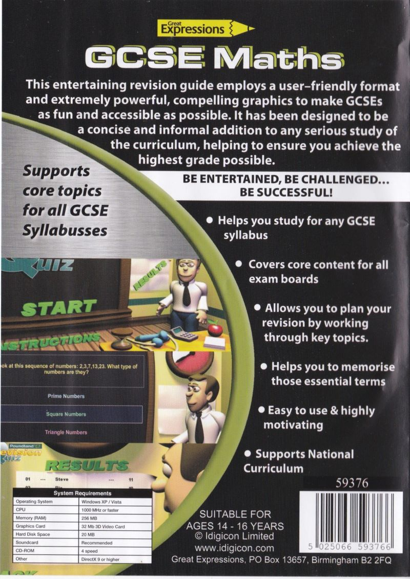 Great Expressions: GCSE Maths Windows Back Cover