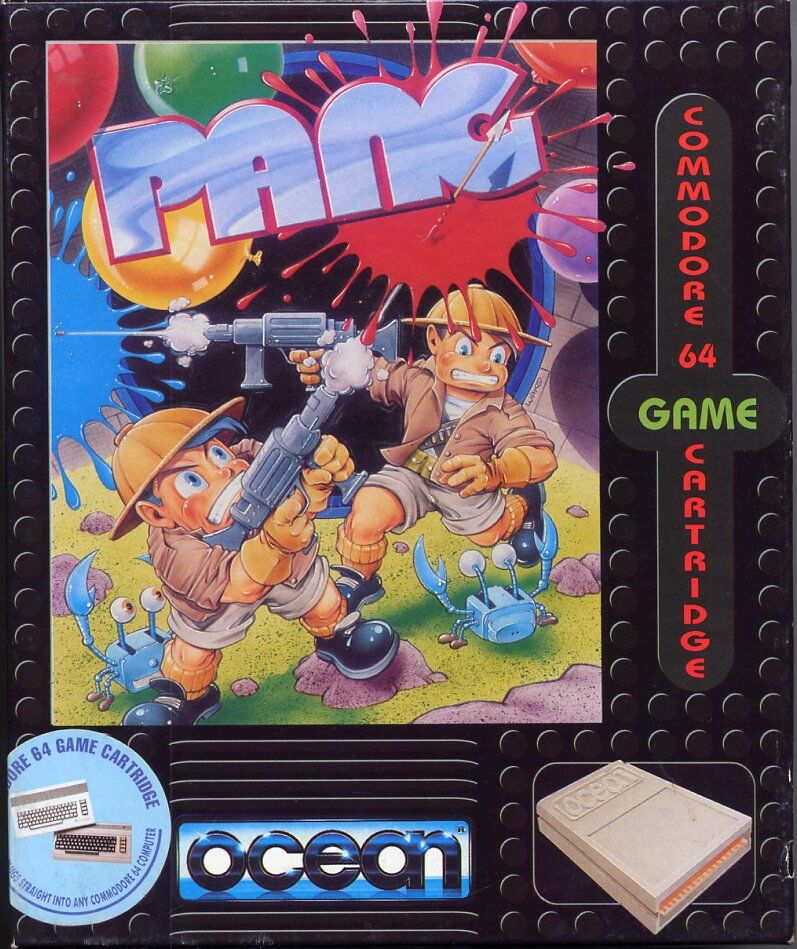 Pang Commodore 64 Front Cover