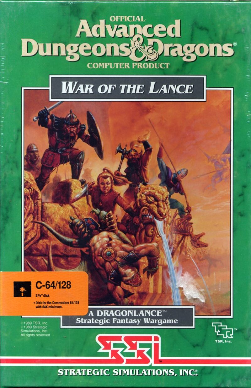 War of the Lance Commodore 64 Front Cover