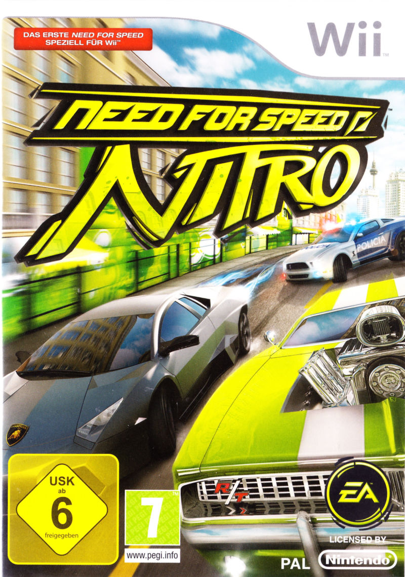 need for speed nitro 2009 wii box cover art mobygames. Black Bedroom Furniture Sets. Home Design Ideas