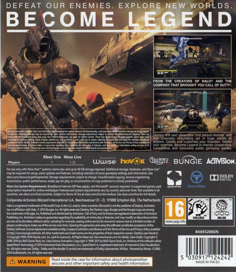 destiny 2014 playstation 3 box cover art mobygames