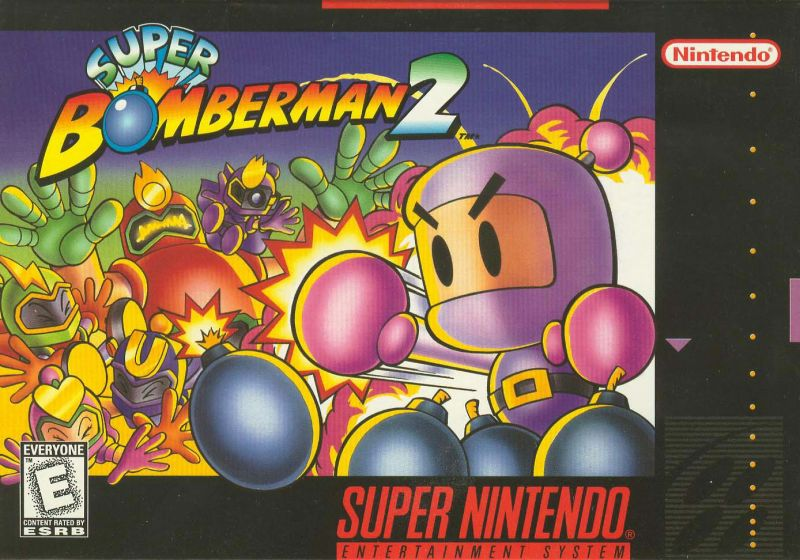 Super Bomberman 2 SNES Front Cover