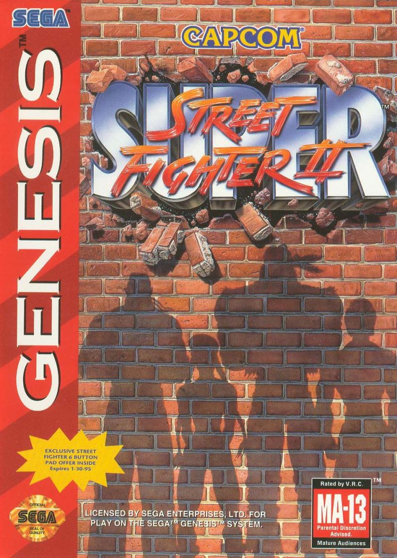 Super Street Fighter II Genesis Front Cover