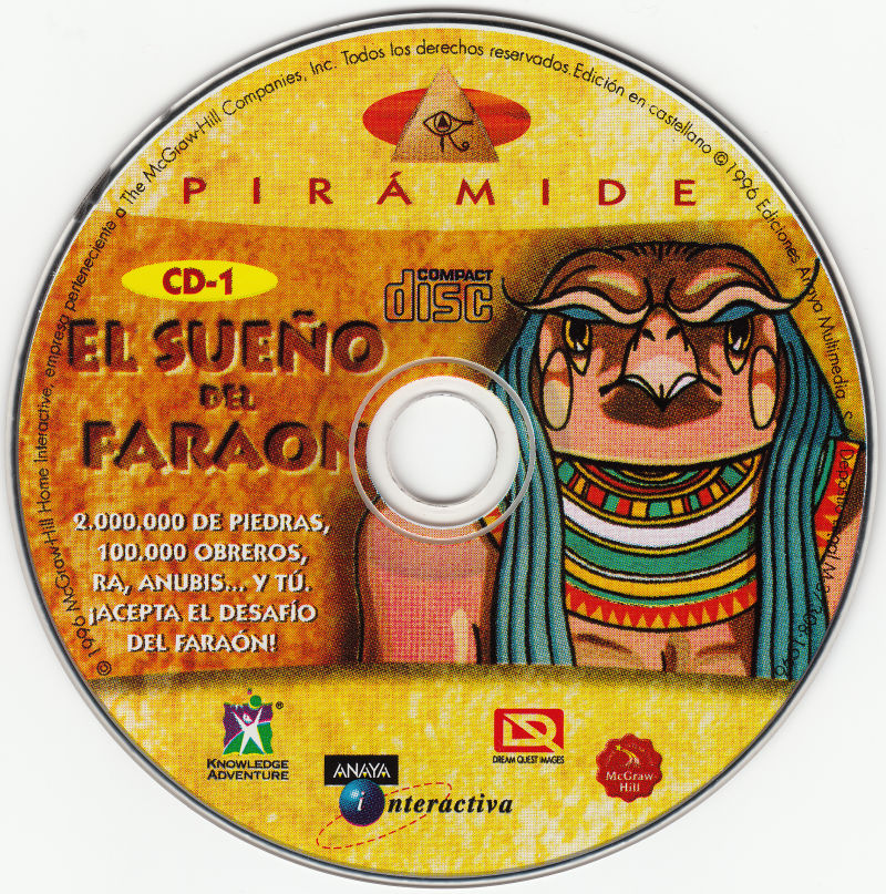 Pyramid: Challenge of the Pharaoh's Dream Macintosh Media Disc 1/2