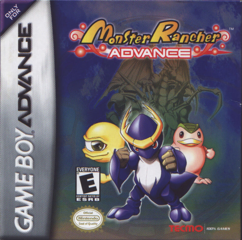 Monster Rancher Advance Game Boy Advance Front Cover