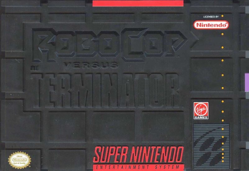 RoboCop Versus the Terminator SNES Front Cover