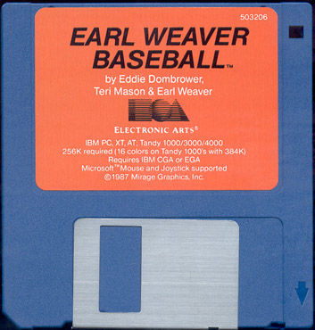 Earl Weaver Baseball DOS Media