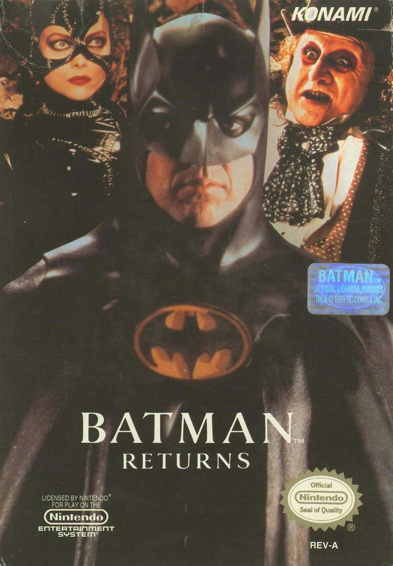 Batman Returns NES Front Cover