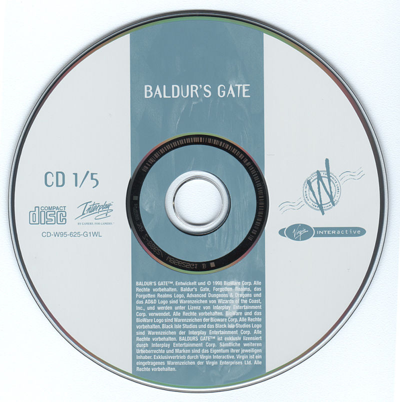 Baldur's Gate Windows Media Disc 1/5
