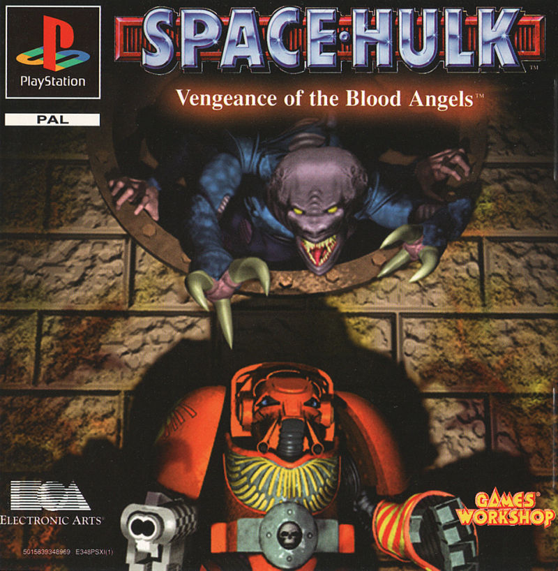 Space Hulk: Vengeance of the Blood Angels PlayStation Front Cover