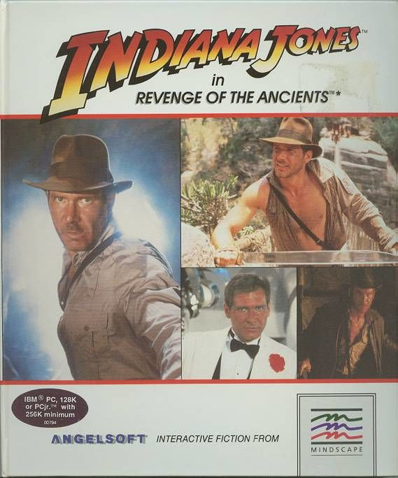 Indiana Jones in Revenge of the Ancients DOS Front Cover