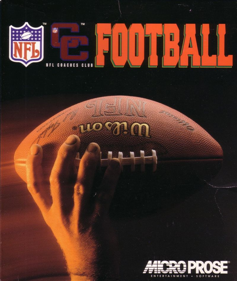 NFL Coaches Club Football DOS Front Cover