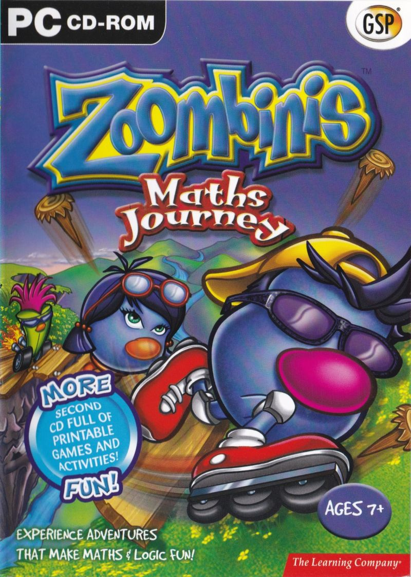 graphic relating to Printable Video Game Covers identify Rational Trip of the Zoombinis (1996) Macintosh box deal with