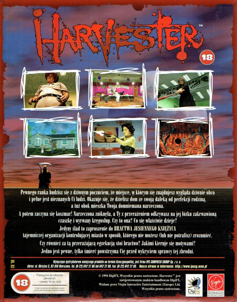 Harvester DOS Back Cover