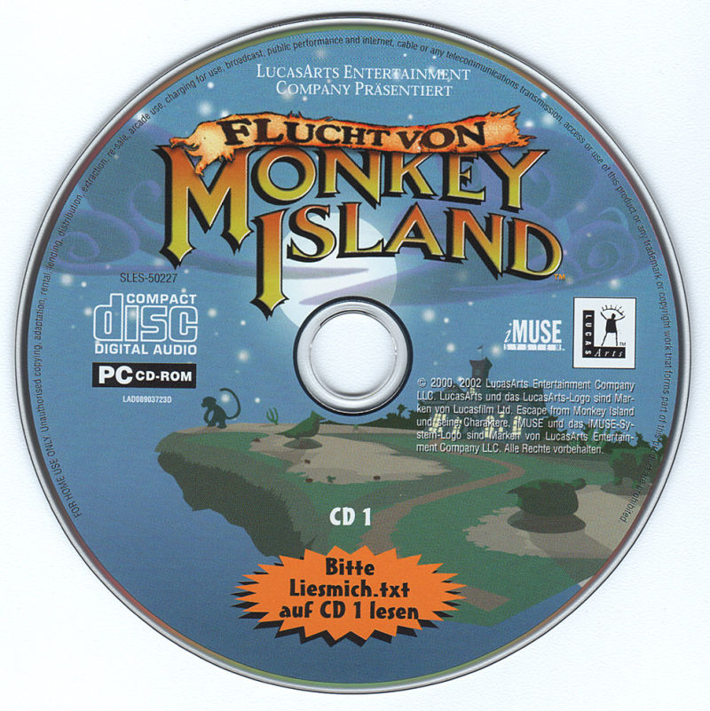 Escape from Monkey Island Windows Media Disc 1/2