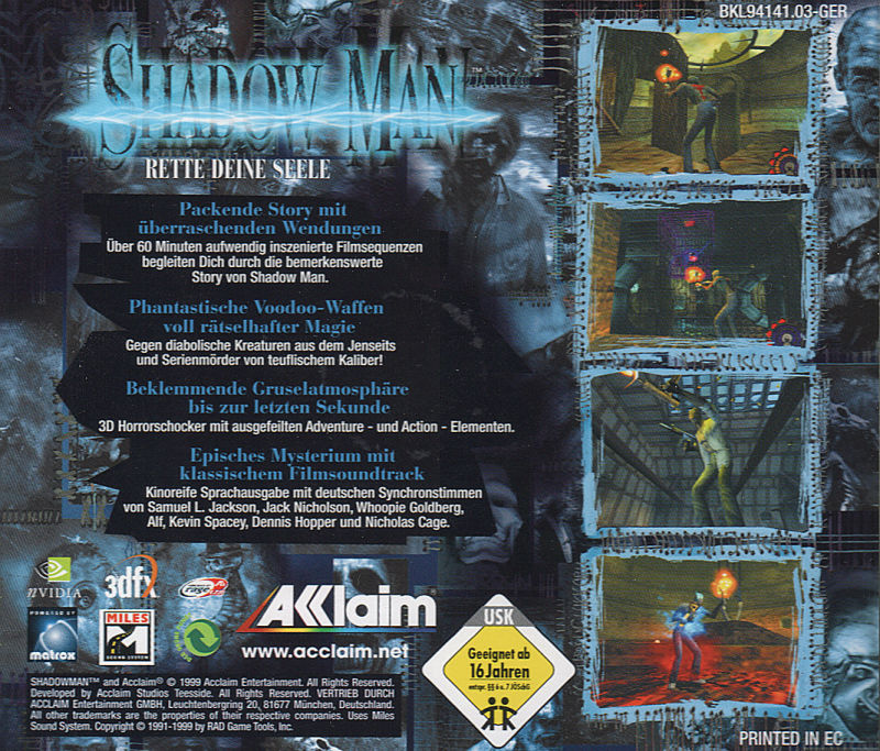 Shadow Man Windows Other Jewel Case - Back