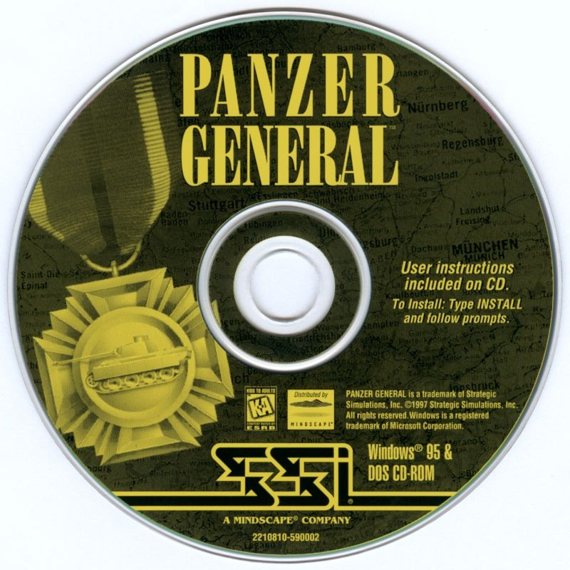 Panzer General DOS Media