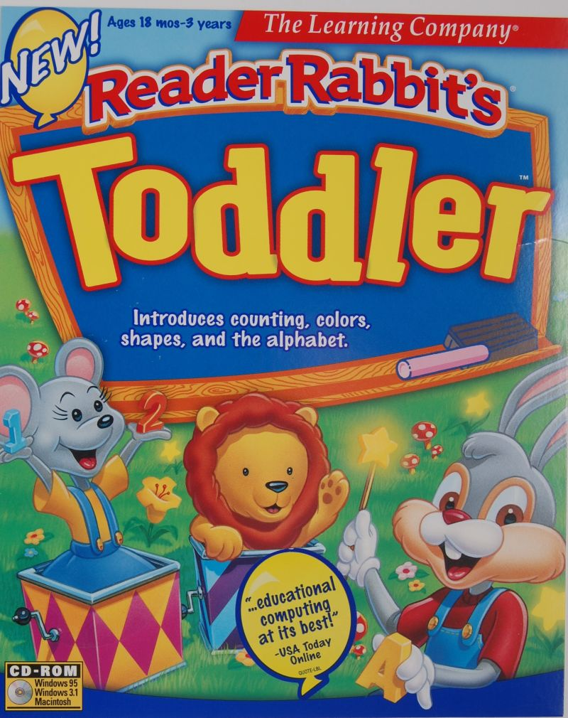 Reader Rabbit's Toddler Macintosh Front Cover