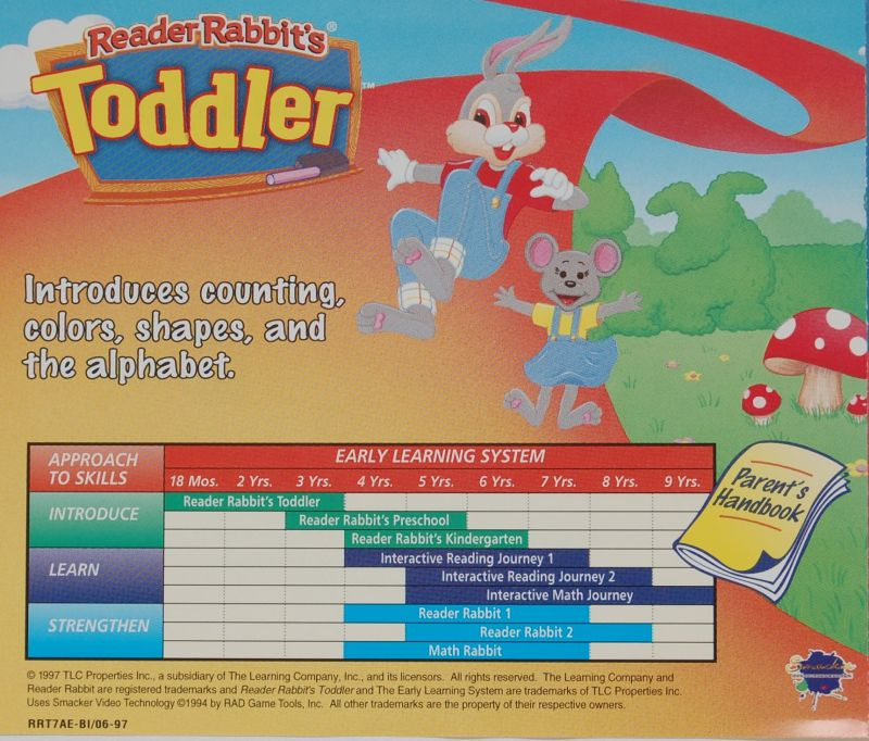 Reader Rabbit's Toddler Macintosh Other Jewel Case - Back