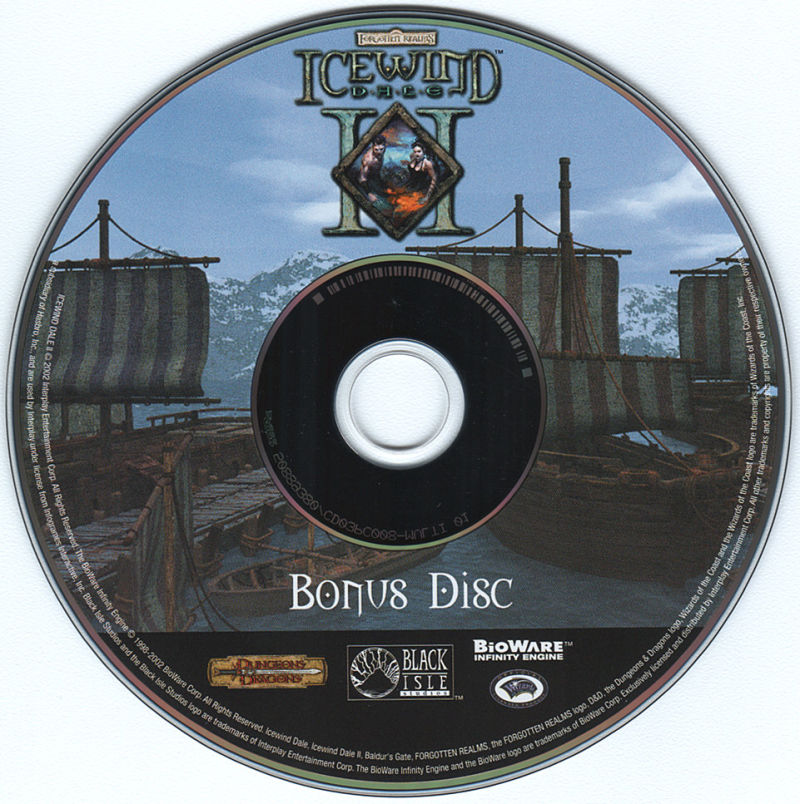 Icewind Dale: The Ultimate Collection Windows Media Icewind Dale II Bonus CD
