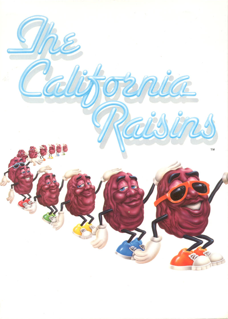 The California Raisins DOS Inside Cover Right flap