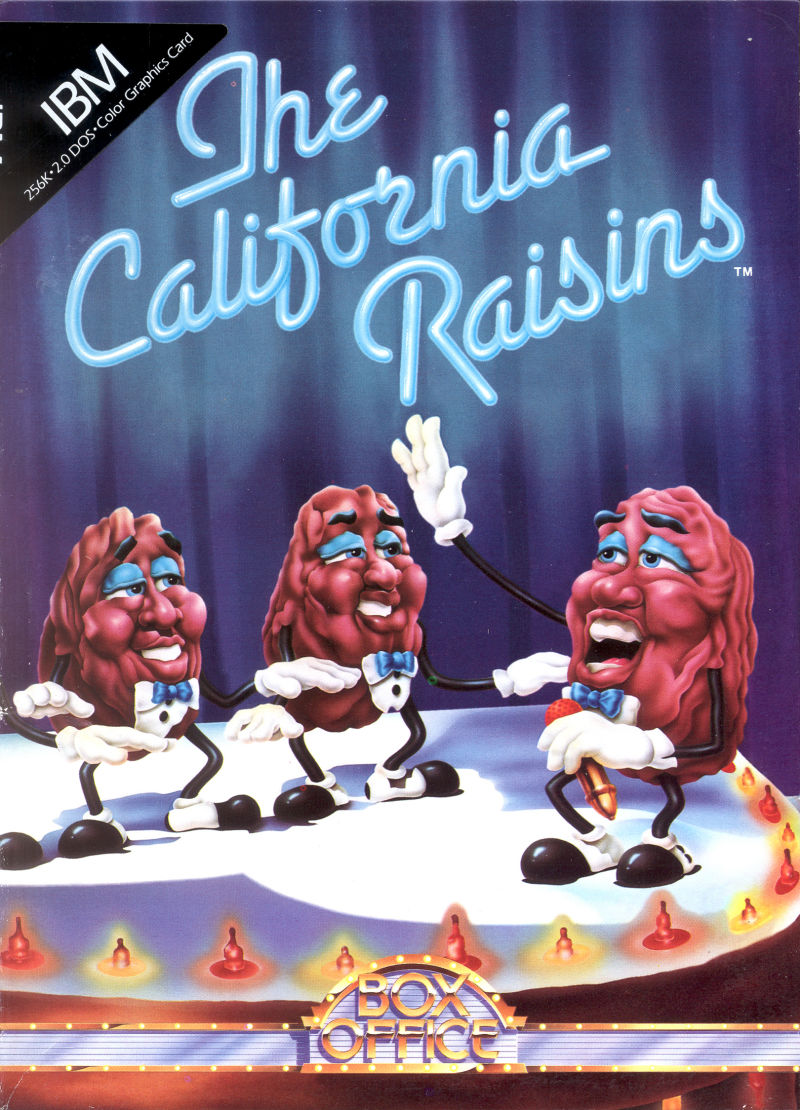 The California Raisins DOS Front Cover