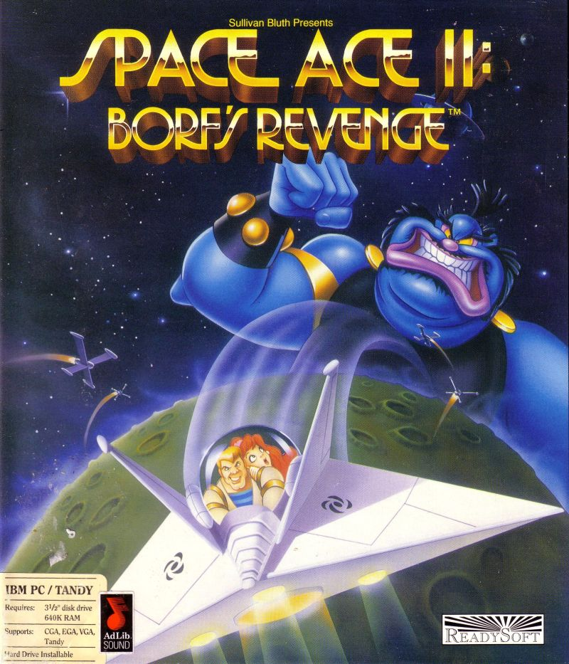 Space Ace II: Borf's Revenge DOS Front Cover