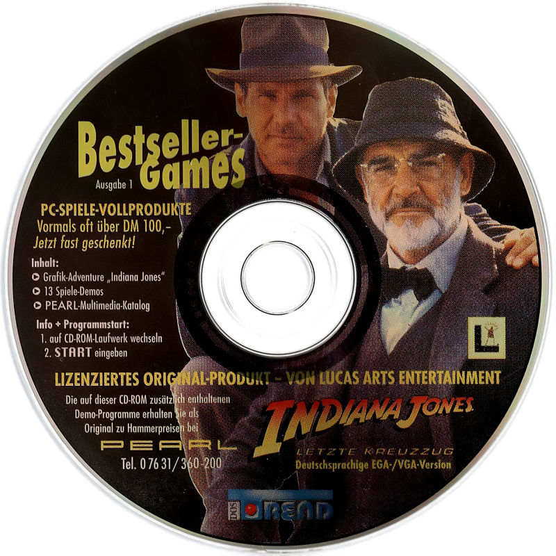 Indiana Jones and the Last Crusade: The Graphic Adventure DOS Media