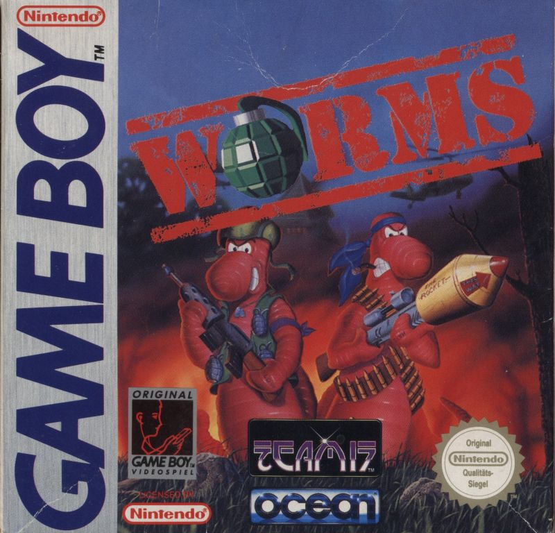 Worms Game Boy Front Cover