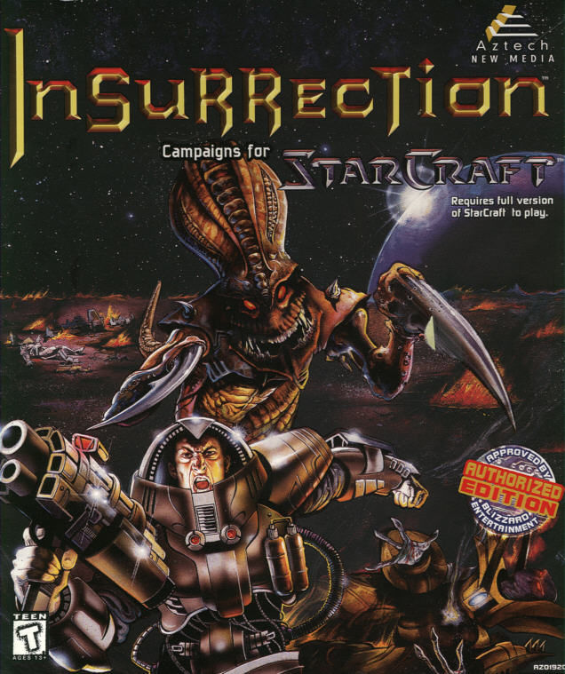 Insurrection: Campaigns for StarCraft Windows Front Cover