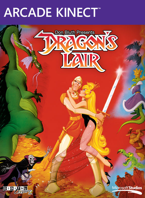 Dragon's Lair Xbox 360 Front Cover