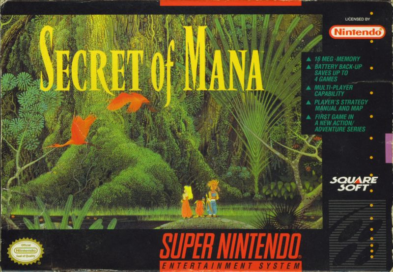 Secret of Mana SNES Front Cover