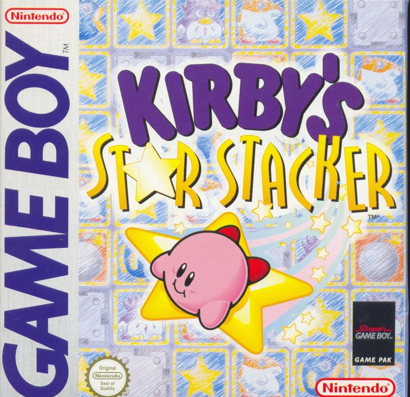 Kirby's Star Stacker Game Boy Front Cover