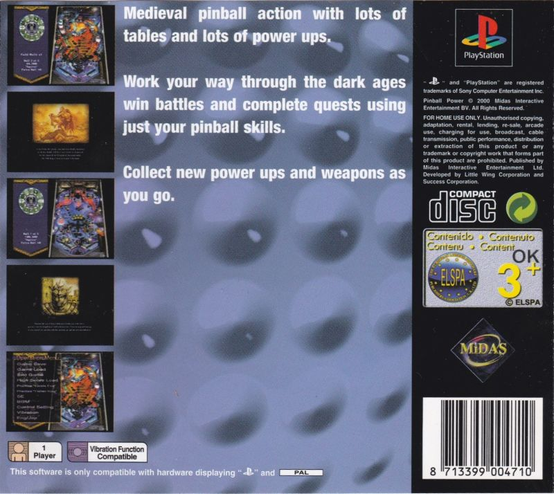 Golden Logres PlayStation Back Cover