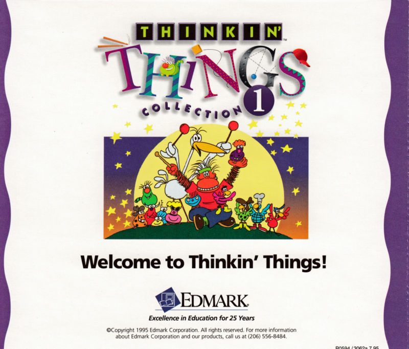 Thinkin' Things Collection 1 Macintosh Other Jewel case -- back