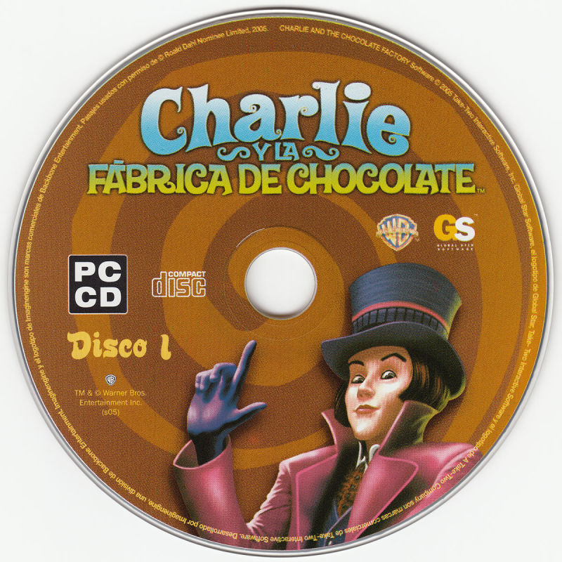Charlie and the Chocolate Factory Windows Media Disc 1/2