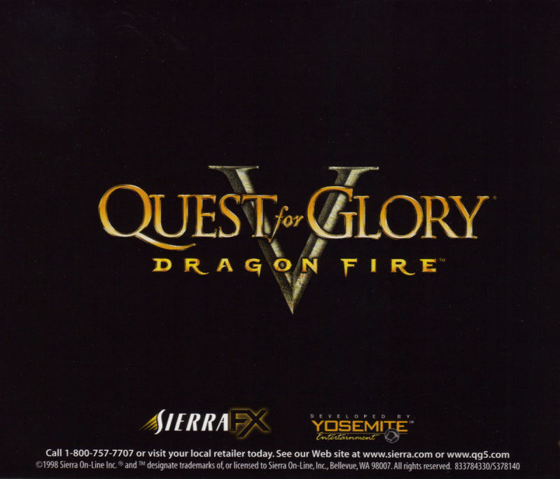 Quest for Glory V: Dragon Fire Macintosh Other Jewel Case - Back