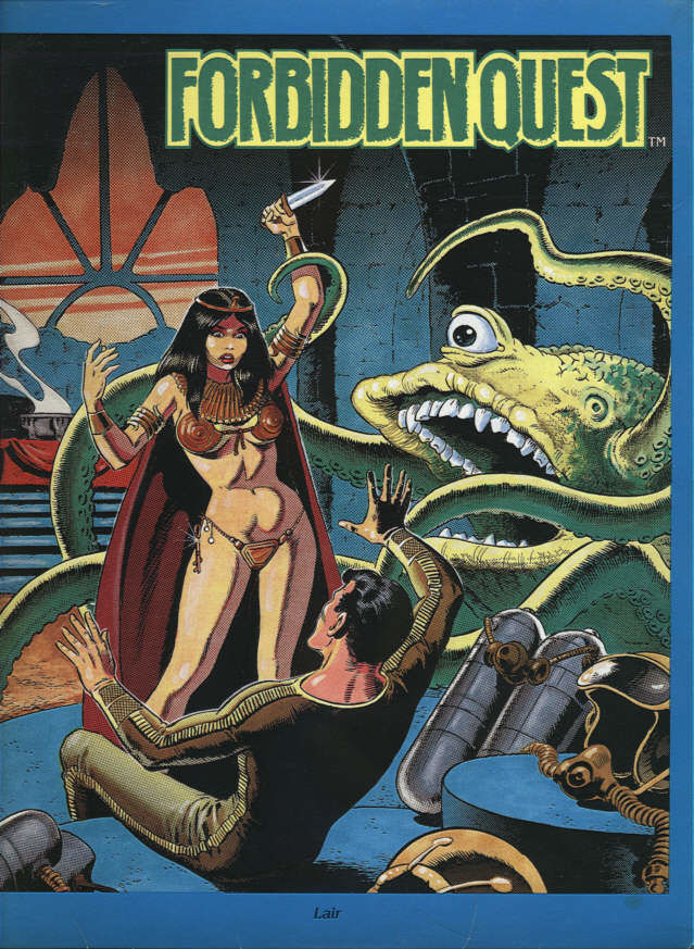 Forbidden Quest Atari ST Front Cover
